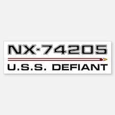 USS Defiant DS9 Dark Bumper Bumper Bumper Sticker