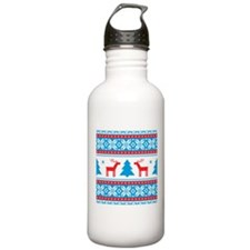 Ugly Christmas Sweater Water Bottle