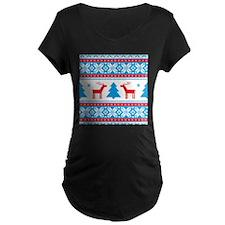 Ugly Christmas Sweater Maternity T-Shirt