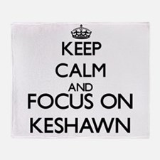 Keep Calm and Focus on Keshawn Throw Blanket
