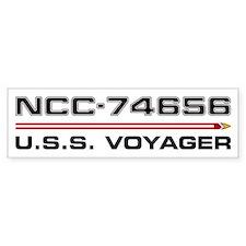 USS Voyager Dark Bumper Bumper Bumper Sticker