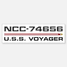 USS Voyager Dark Bumper Car Car Sticker