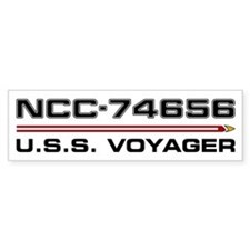 USS Voyager Dark Bumper Car Sticker