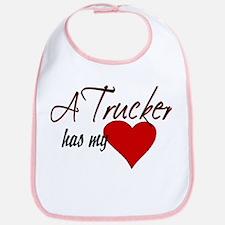 A Trucker has my heart Bib