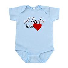 A Trucker has my heart Infant Bodysuit