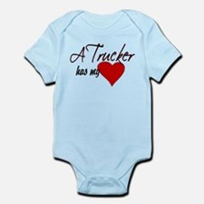A Trucker has my heart Infant Bodysuit