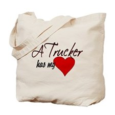 A Trucker has my heart Tote Bag