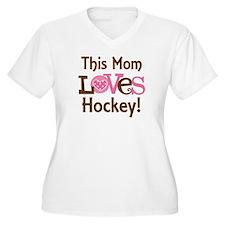 Mom Loves Hockey T-Shirt