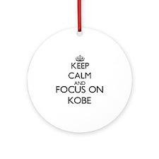 Keep Calm and Focus on Kobe Ornament (Round)