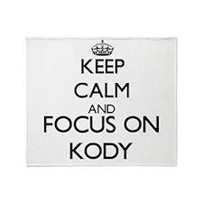 Keep Calm and Focus on Kody Throw Blanket