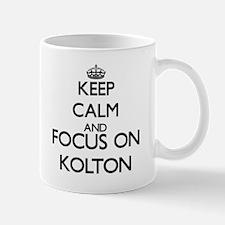 Keep Calm and Focus on Kolton Mugs
