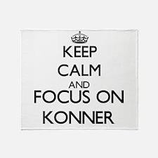 Keep Calm and Focus on Konner Throw Blanket