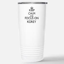 Keep Calm and Focus on Stainless Steel Travel Mug
