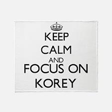 Keep Calm and Focus on Korey Throw Blanket