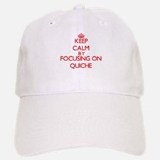 Keep Calm by focusing on Quiche Baseball Baseball Cap
