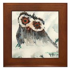 Baby Owl Framed Tile