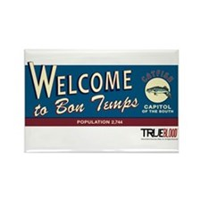Welcome to Bon Temps Rectangle Magnet