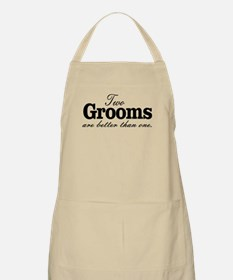 TWO GROOMS ARE BETTER THAN ONE. GAY WEDDING. Apron