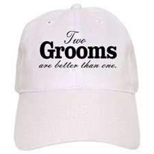 TWO GROOMS ARE BETTER THAN ONE. GAY WEDDING. Baseb