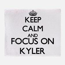 Keep Calm and Focus on Kyler Throw Blanket