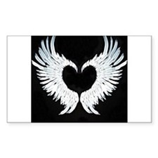 Angelwings heart Decal