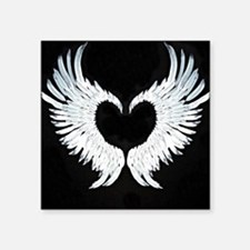 "Angelwings heart Square Sticker 3"" x 3"""