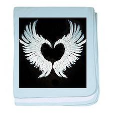 Angelwings heart baby blanket