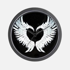 Angelwings heart Wall Clock