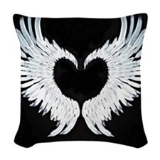 Angelwings heart Woven Throw Pillow