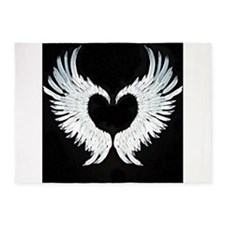 Angelwings heart 5'x7'Area Rug