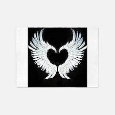 Angelwings heart 5'x7'Area Rug