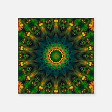 "Passion Art Mandala Square Sticker 3"" x 3"""