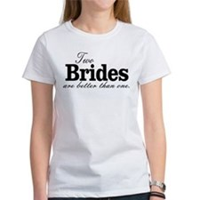 TWO BRIDES ARE BETTER THAN ONE. LESBIAN WEDDING. T