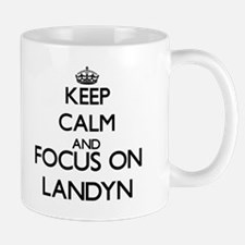 Keep Calm and Focus on Landyn Mugs