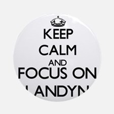Keep Calm and Focus on Landyn Ornament (Round)