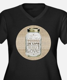 Mason Jar Best Things are Made with Love Plus Size