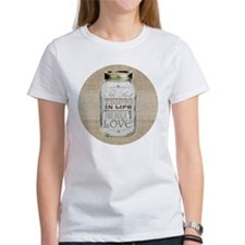 Mason Jar Best Things are Made with Love T-Shirt