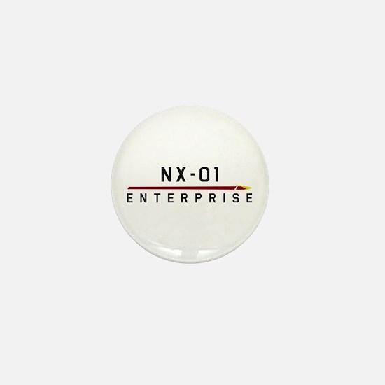 NX-01 Enterprise Dark Mini Button