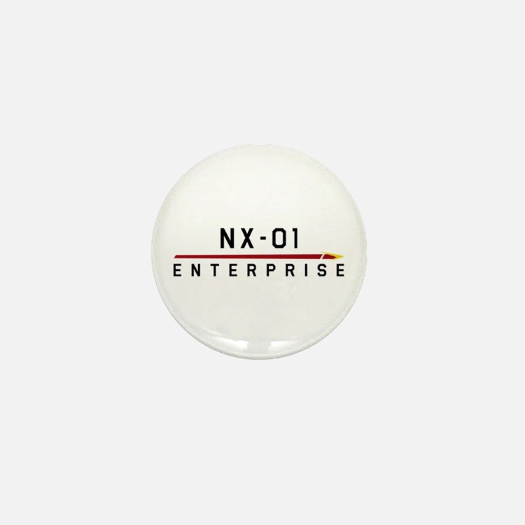 NX-01 Enterprise Dark Mini Button