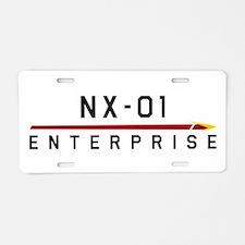 NX-01 Enterprise Dark Aluminum License Plate