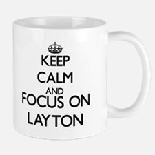 Keep Calm and Focus on Layton Mugs