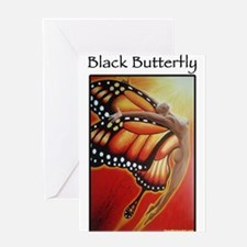 Black Butterfly Greeting Cards