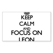 Keep Calm and Focus on Leon Decal