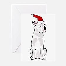 American Bulldog Christmas Design Greeting Cards