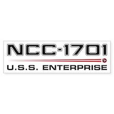 USS Enterprise Refit Dark Bumper Bumper Sticker