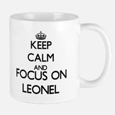 Keep Calm and Focus on Leonel Mugs