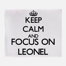 Keep Calm and Focus on Leonel Throw Blanket