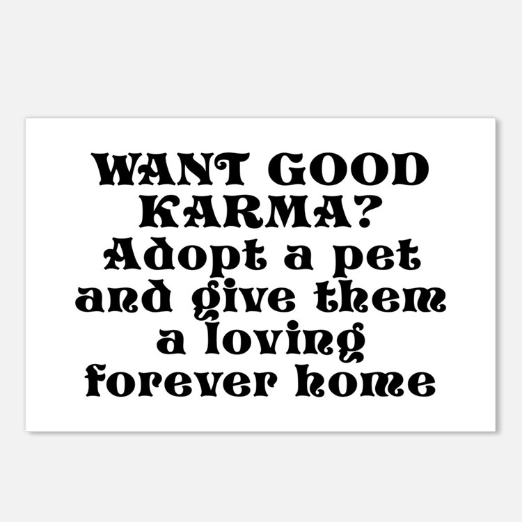 Adopt a pet - Postcards (Package of 8)
