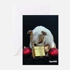 Cute English bulldog lover Greeting Cards (Pk of 20)