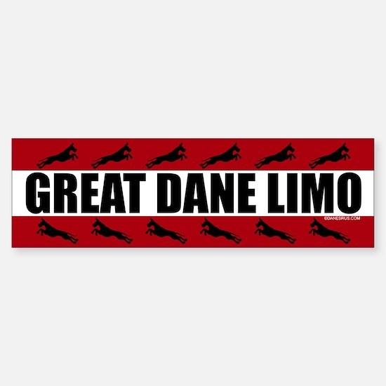 Great Dane Limo Bumper Bumper Bumper Sticker